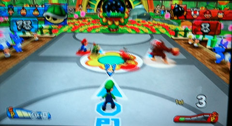 Mario Sports Mix Basketball match.